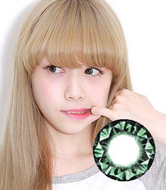 VASSEN Kitty Kawaii Diamond 3 tone Green   15mm /027