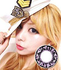 VASSEN Kitty Kawaii Diamond 3 tone Violet   15mm /028