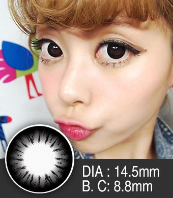 【Yearly / 2 Lenses】 BELLA  Black  / 222