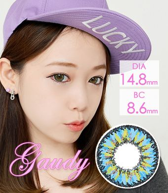 【Yearly / 2 Lenses】 ICK Gaudy Blue  /663