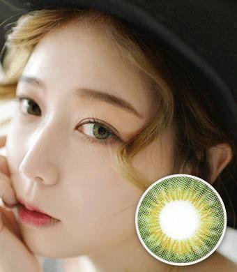 【 Yearly / 2 Lenses】 NELL KE 002 green  /915