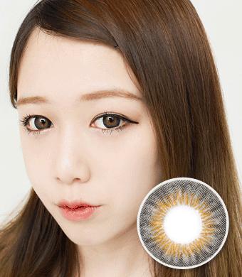 【 Yearly / 2 Lenses】 NELL KE 002 gray  /914