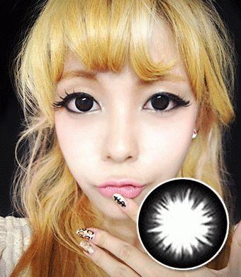 【 Yearly / 2 Lenses】 Magic Circle Black CK-105  /016