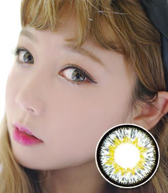 【 Yearly / 2 Lenses】 D-TY  twinklestar gray /14.0mm /  1122