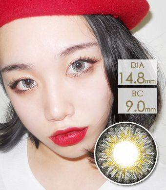 【 Yearly / 2 Lenses】  Sweet Big C type Gray / 1141</BR>