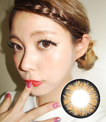 Maxlook Pinky Brown contacts 14.3mm /424