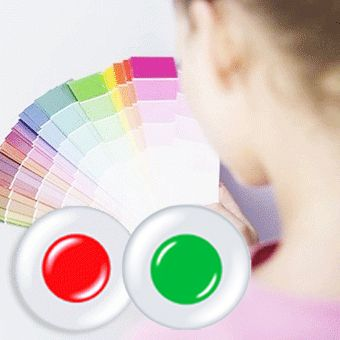 Colored contacts for Color Blindness Red + Green 1set /1076