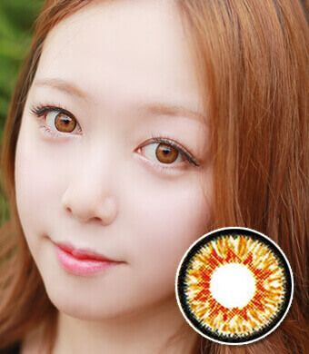 【 Yearly / 2 Lenses】 D-TY  twinklestar brown /14.0mm /  1121