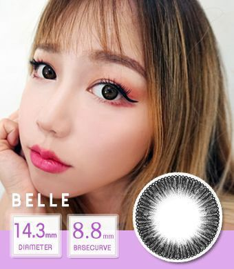 NEW 【 Yearly / 2 Lenses】 Belle black /1440
