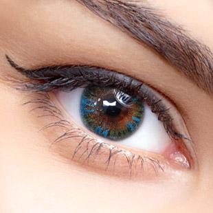 【 Yearly / 2 Lenses】 VASSEN RAINBOW EYES GREENISH BLUE  /621