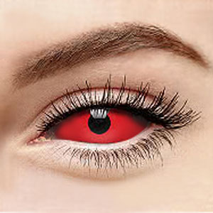 【Sclera Lenses / 2 Lenses】 Demon Lucifer Red Sclera 2211 / 22mm / 1491