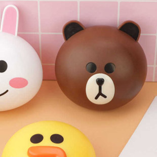Line Brown Contact Lens Case / 1513