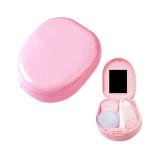 Round Pink Contact Lens Case / 1516