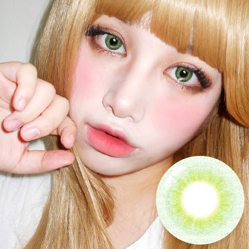 NEW【UV Blocking・PREMIUM 】【3 Months / 2 Lenses】 INNO Elite II 3-tone Green / 1683