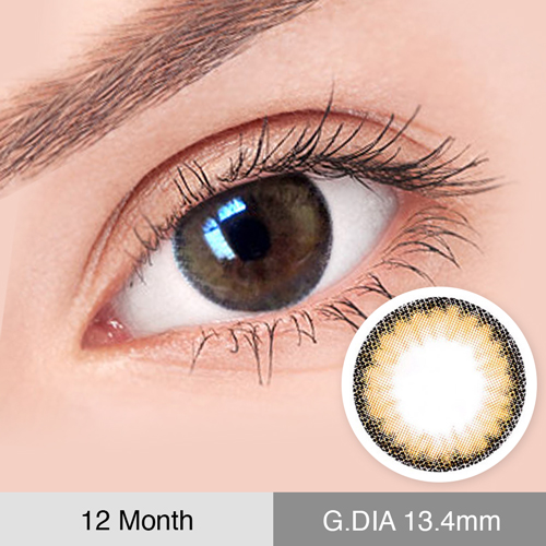 【2 Toric Lenses / 12month】 Clouds  Brown  /654</br>