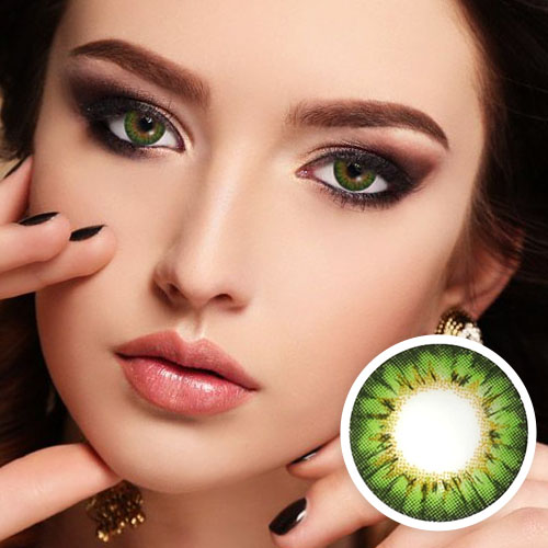 【2 Toric Lenses / 12month】  Bess (A133) Green toric 180 AXIS  /1283 </br>