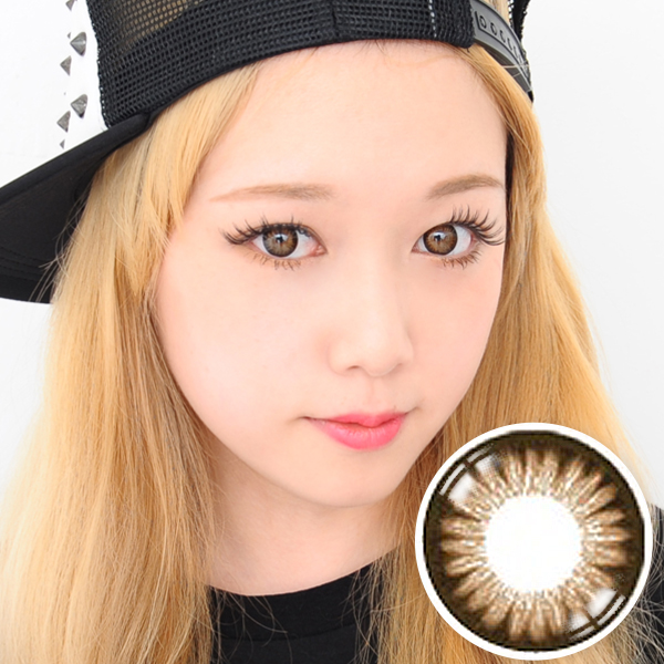 【Yearly / 2 Lenses】 GLAM Madonna Brown   14.0mm /055