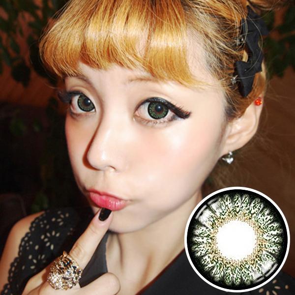 【Yearly / 2 Lenses】  GEO Mimi Apple Green (Bambi series)  /004