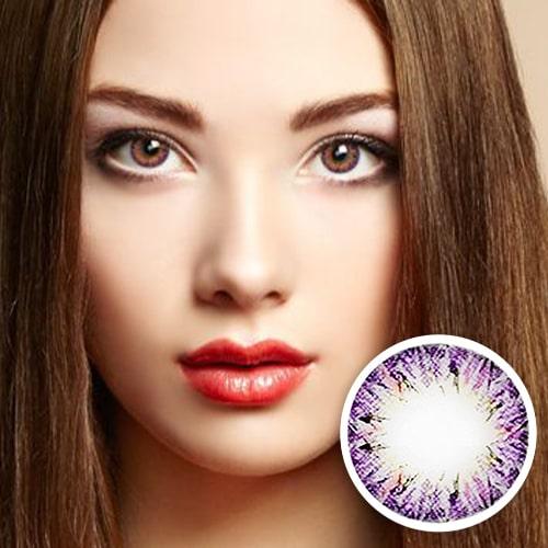 【2 Toric Lenses / 12month】  Villea Violet toric 180 AXIS /1292 </br>