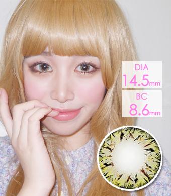 [Hyperopia/12month]  VILLEA Brown  /1313 </br> DIA:14.5mm(~ +4.00)