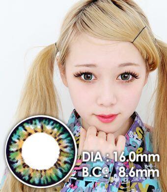 【 Yearly / 2 Lenses】 VASSEN Ic4 Super Pinky  Green /16mm /612