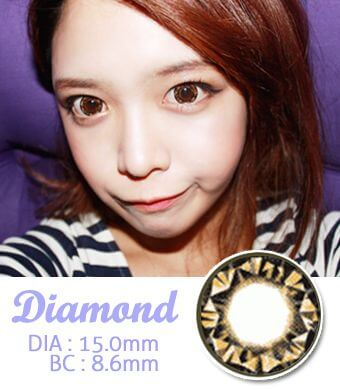 【 Yearly / 2 Lenses】 VASSEN Diamond Brown /15.0mm/025