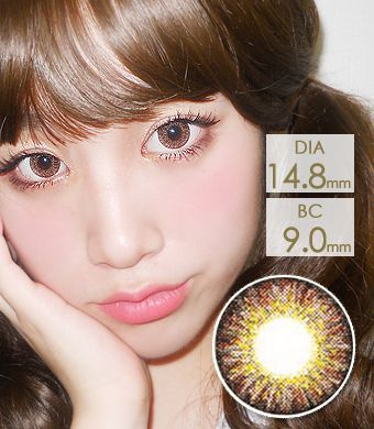 【 Yearly / 2 Lenses】 Sweet Big C type Brown / 1142</BR>