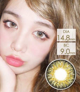 【 Yearly / 2 Lenses】 Sweet Big C type Hazel / 1143</BR>