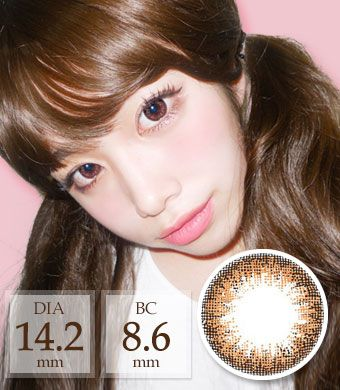 【Monthly / 2 Lenses】 Ann ADD Cat Brown / 1458