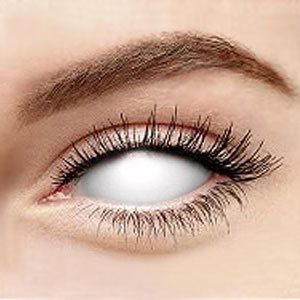 cheap sclera contacts for halloween White Bright Blue Contacts white blind sclera 2227 22mm 1488