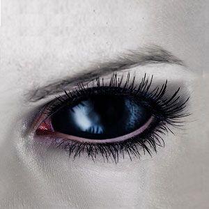 BEST 【Sclera Lenses】  Black Vampire Sclera Contact Lenses 2202 / 22mm / 1489