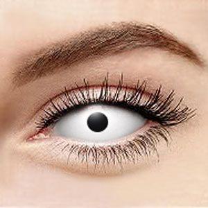 【Sclera Lenses】 Zombie White Sclera Contact Lenses 2204 22mm / 1497