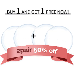 【Clear Toric 2Pair 】  T1 Toric  Clear  4Lenses +  free shipping /1554