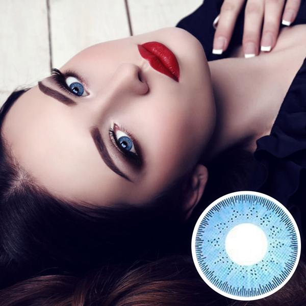 【 Yearly / 2 Lenses】 GBT sky blue 1234